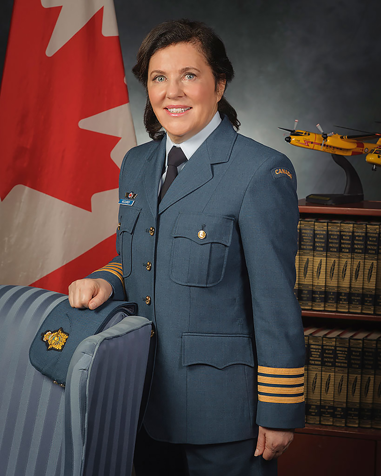 Honorary Colonel Diane McCurdy stands for her official Canadian Armed Forces portrait in 2015. PHOTO: Master Corporal Pierre Letourneau, CX2015-0046